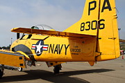 Trojan Prints - North American T28 Trojan US Navy Aircraft 7d15751 Print by Wingsdomain Art and Photography