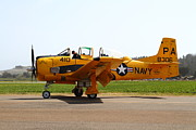 Trojan Prints - North American T28 Trojan US Navy Aircraft 7d15808 Print by Wingsdomain Art and Photography