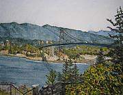 Lions Gate Bridge Framed Prints - North and West Framed Print by Shirley Braithwaite Hunt