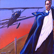Alfred Hitchcock Paintings - North by Northwest by Buffalo Bonker