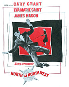 Films By Alfred Hitchcock Framed Prints - North By Northwest, Cary Grant, Eva Framed Print by Everett