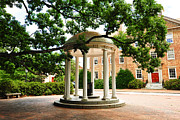North Carolina A Student's View Of The Old Well And South Building Print by Replay Photos