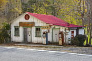 Country Store Posters - North Carolina Country Store and Gas Station Poster by Bill Swindaman