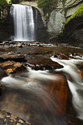 Waterfall Prints - North Carolina Waterfall Print by Andrew Soundarajan