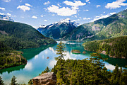 North Cascades Prints - North Cascades Print by Niels Nielsen