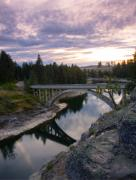 Arched Bridge Posters - North Channel Bridge Poster by Idaho Scenic Images Linda Lantzy