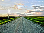 Gravel Road Photos - North Dakota Road by Nathan  Brend