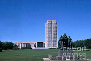 Capital Building Prints - North Dakota State Capitol Print by Photo Researchers