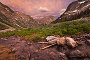 North Fork Prints - North Fork of Cascade Canyon Print by Mike Cavaroc