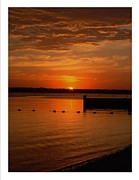 North Fork Framed Prints - North Fork Sunrise Framed Print by Frank Wickham