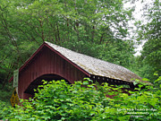 Covered Bridge Digital Art Prints - North Fork Yachats Bridge 1 Print by Methune Hively