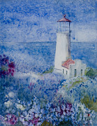 Aids Paintings - North Head LIght by Ruth Bailey