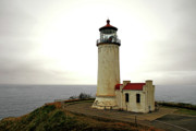 Moody Prints - North Head Lighthouse - Graveyard of the Pacific - Ilwaco WA Print by Christine Till