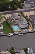 Aerial Photography - North Lagoon Mantoloking New Jersey by Duncan Pearson