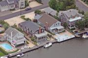 Aerial Photos Posters - North Lagoon Mantoloking New Jersey II Poster by Duncan Pearson
