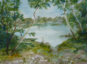 North Lake Print by Dorothy Herron