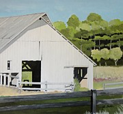 Barns Paintings - North Liberty Barn by John Chehak