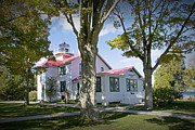 Traverse Bay Photos - North Point Lighthouse in Grand Traverse Bay Michigan Number 287 by Randall Nyhof