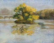 Fall Colors Autumn Colors Pastels Posters - North River Morning Poster by Jennifer Richard-Morrow