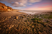 California Surf Prints - North San Diego Beach Print by Larry Marshall