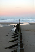 Surf Silhouette Prints - North Sea at Sunset Print by Michael Neal