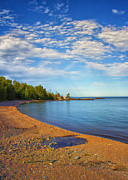 Rocky Beach Prints - North Shore Beach Print by Bill Tiepelman