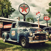 Classic Truck Photos - North Shore Garage by Joel Witmeyer