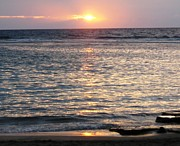 Sharon Farris Metal Prints - North Shore Sunset Metal Print by Sharon Farris