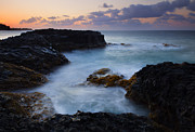 Ocean Sunset Prints - North Shore Tides Print by Mike  Dawson