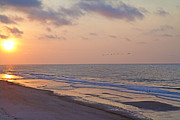 North Topsail Beach Glory Print by Betsy A Cutler Islands and Science