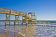 Topsail Island Posters - North Topsail Island Poster by East Coast Barrier Islands Betsy A Cutler
