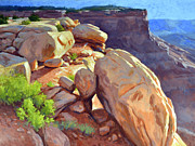 Moab Painting Prints - North Towards Moab Print by Stephen Bartholomew