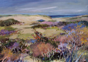Cape Cod Paintings - North Truro Dune by Diane Ursin