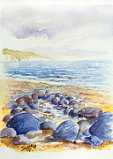 North Wales Paintings - North Wales Waves by Merv Scoble