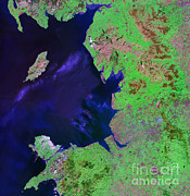 Add Framed Prints - North West England Framed Print by NASA / Science Source