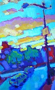 Saturated Paintings - Northampton Intersection by Caleb Colon