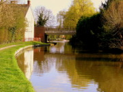 Canal Digital Art - Northamptonshire Canal in England by Mindy Newman