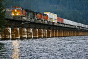Sandpoint Prints - Northbound at Dusk Print by Albert Seger