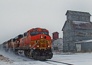 Engine Photos - Northbound Winter Coal Drag by Ken Smith