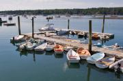 Docked Boat Prints - Northeast Harbor Maine Print by Louise Heusinkveld