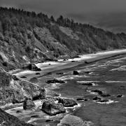 Sandy Beaches Posters - Northern Cannon Beach Poster by David Patterson
