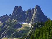 Mountain Art Mixed Media - Northern Cascades National Park - Castle Mountain by Photography Moments - Sandi