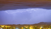 Lightning Weather Stock Images Prints - Northern Colorado Rocky Mountain Front Range Lightning Storm  Print by James Bo Insogna