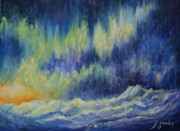 Sun Rays Painting Originals - Northern Experience by Joanne Smoley