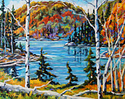 Original  By Artist Paintings - Northern Landscape Canadian Painting by Prankearts by Richard T Pranke