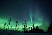 Snowy Night Photo Posters - Northern Lights Poster by Jeremy Walker