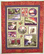 Maine Tapestries - Textiles - Northern Lights  by Vicky Birden