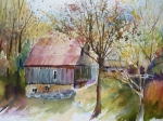 Northern Michigan Paintings - Northern Michigan Barn by Sandra Strohschein