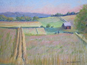 Early Pastels Originals - Northern Michigan Farmland by Sandra Strohschein