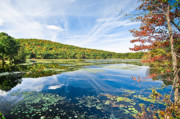 (c) 2010 Photo Prints - Northern New Jersey Lake Print by Ryan Kelly